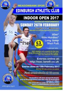 Meadowbank Open Graded Event @ Meadowbank Stadium | Scotland | United Kingdom